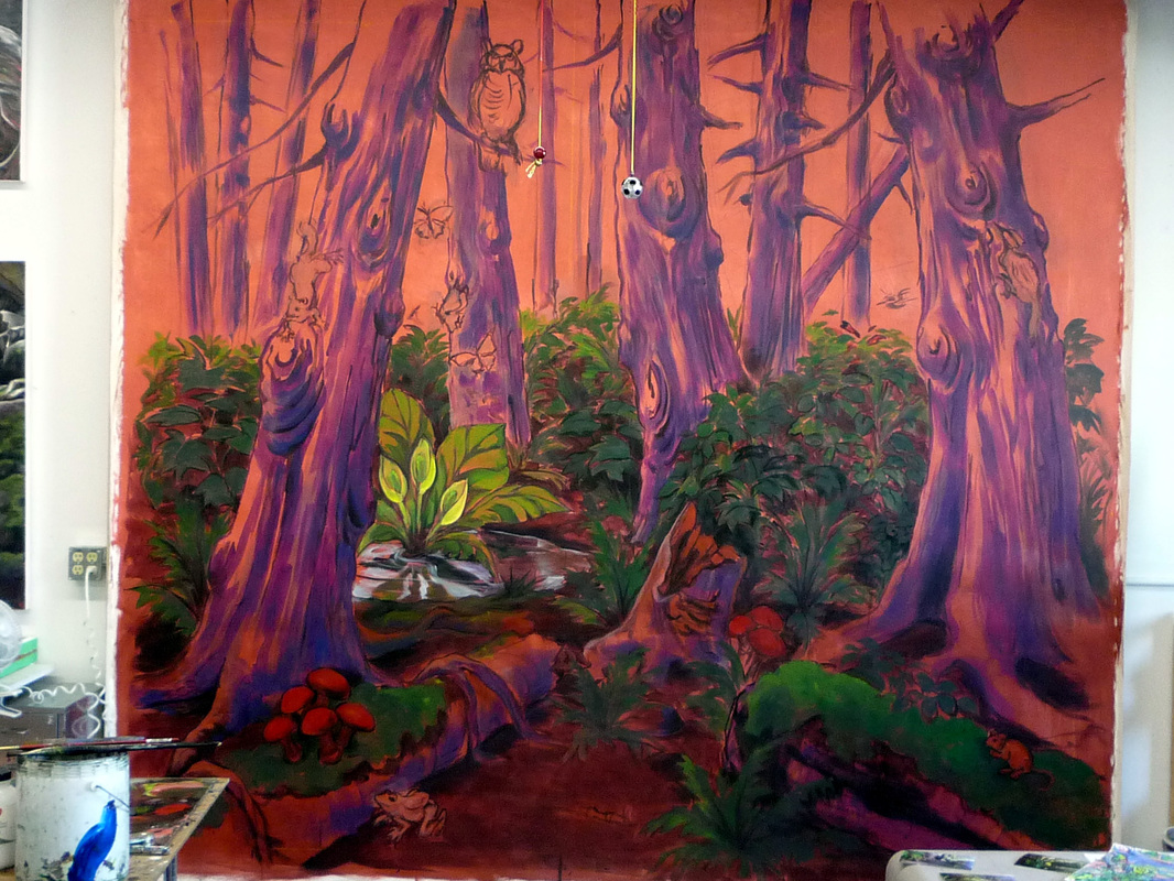 Enchanted forest mural for Enchanted forest mural